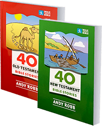 40 OT and 40 NT MINI Bible Stories covers