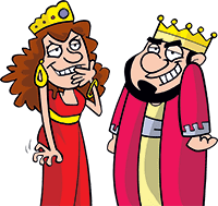 King and Queen characters