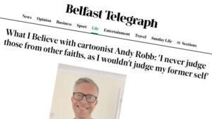 Belfast Telegraph interview heading