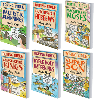Six editions of the Boring Bible books