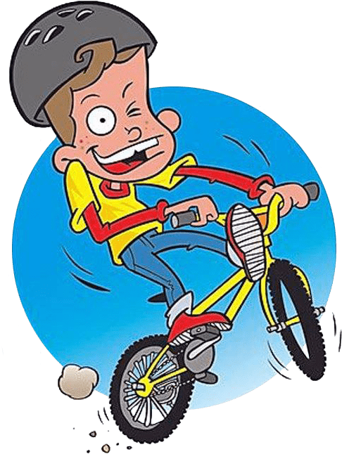 Boy on a BMX bike
