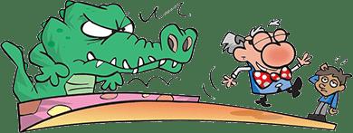 Crocodile-and-Professor-Bumblebrain